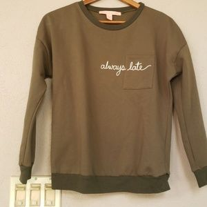 Rebellious One always late sweater